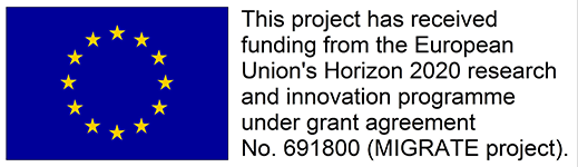 This project has received funding from the European Union's 2020 research and innovation programme under grant agreement No.691800 (MIGRATE project)